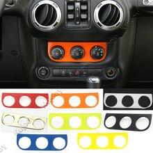 Красный/золото/синий/серебристый/черный/желтый/оранжевый автомобиль кондиционер Переключатель Панель крышка Рамки стикеры Накладка для Jeep Wrangler 11-16