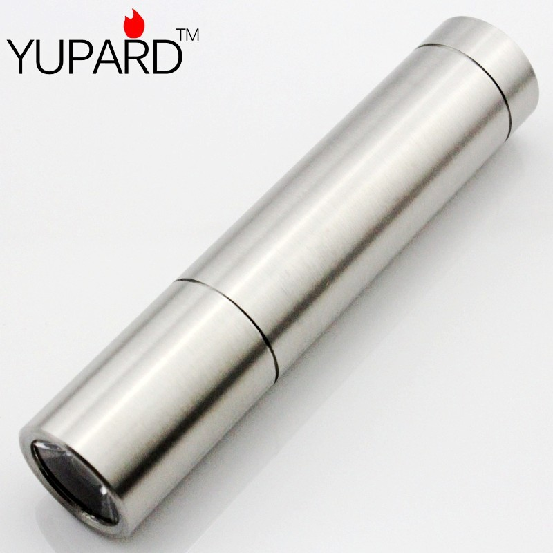 YUPARD Stainless Shell 500Lm Q5 LED Torch Light LED Flashlight For Camping/Sporting/Hiking 3xAAA or 1&#215;18650 rechargeable <font><b>battery</b></font>