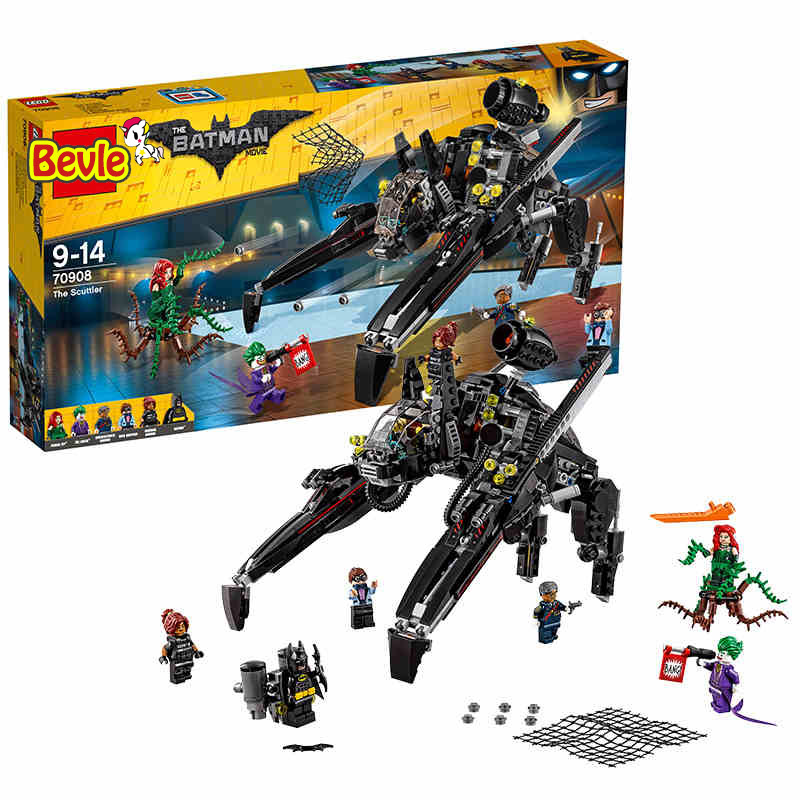 2017 New LEPIN 07056 Batman Ride The Scuttler With Batman Man-Bat Building Block Toys Compatible Legoe Batman Movie 70908 2017 lepin 07045 batman movie batmobile features robin man bat kabuki building block toys compatible with legoe batman 70905