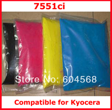 High quality color toner powder compatible for kyocera 7551ci Free shipping
