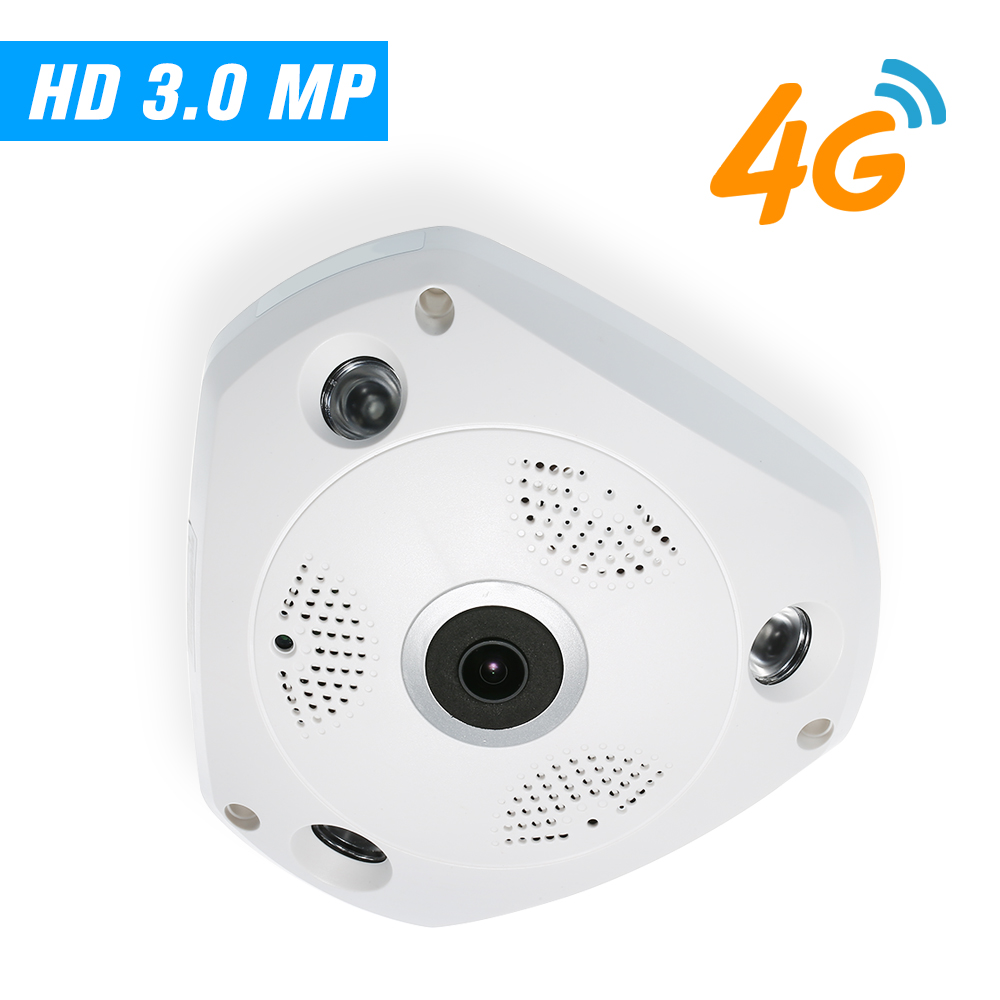 3MP IP Camera 4G Wireless IP Camera IR CUT Night Vision 3G GSM CCTV Camera Video