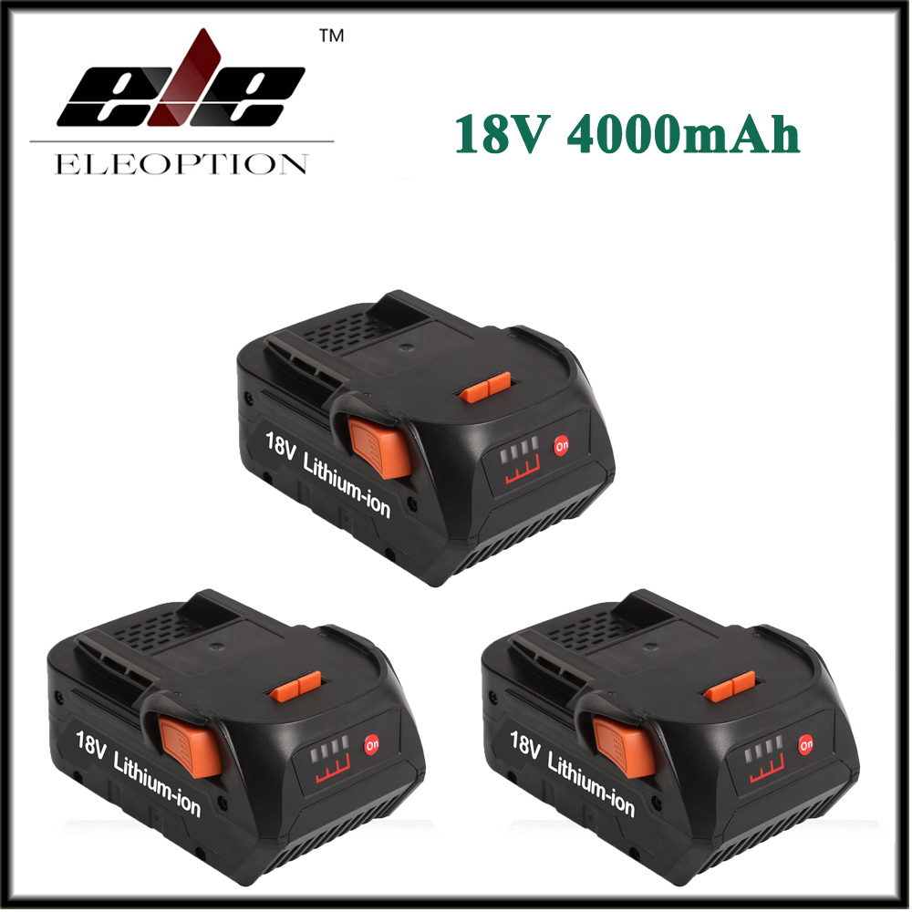 3x Eleoption 4000mAh 18V Li-ion battery for RIDGID HYPER COMPACT BATTERY CS0921 R84008 R840083 AC840084