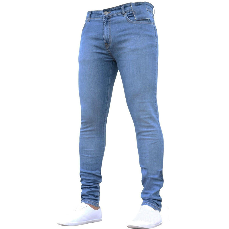 Mens Brand Skinny Jeans Pant Casual Trousers  Denim Ripped Jeans Homme Stretch Pencil Pants Plus Size Streetwear 2019 New