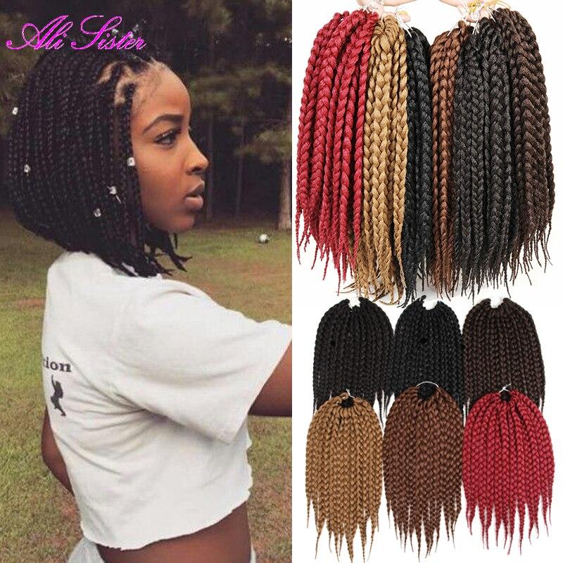 3X short Box twist hair synthetic braiding hair box braid