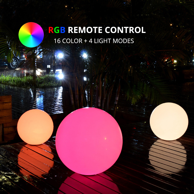 Dia35cm LED Sphere Lamp Rechargeable RGB LED Ball Multicolor Bedside Night Light For Bedroom Living Room Home Party Decoration