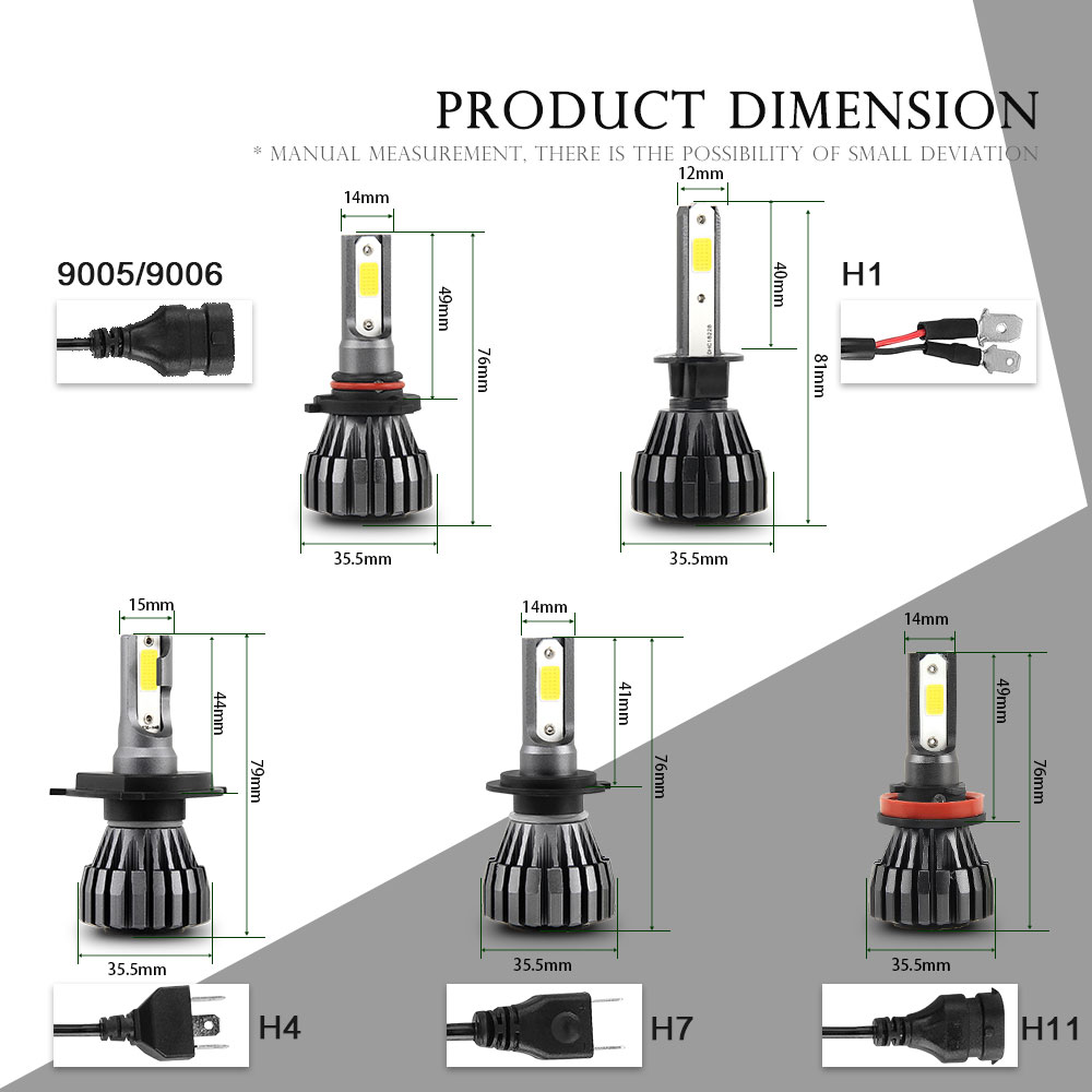BraveWay H4 LED Auto H1 H3 H7 LED H4 Lamps Motorcycle Car Headlight H7 H8 H9 H11 9005 HB3 9006 HB4 6500K 12V in Car Headlight Bulbs LED from Automobiles Motorcycles