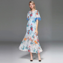 High-quality 2019 New Fashion Designer Women Dress Amazing Short Sleeve Casual High Waist Ladies Beach Spring Summer Trend