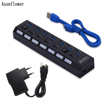 USB 3.0 HUB 4/7 Port High Speed 5Gbps Portable Micro USB HUB 3.0 Multi Splitter With Power Adapter For MacBook Notebook Laptop 10 port usb 3 0 hub 5v 2a power adapter usb hub 3 0 charger with switch multi usb splitter usb3 0 hub for macbook pc laptop