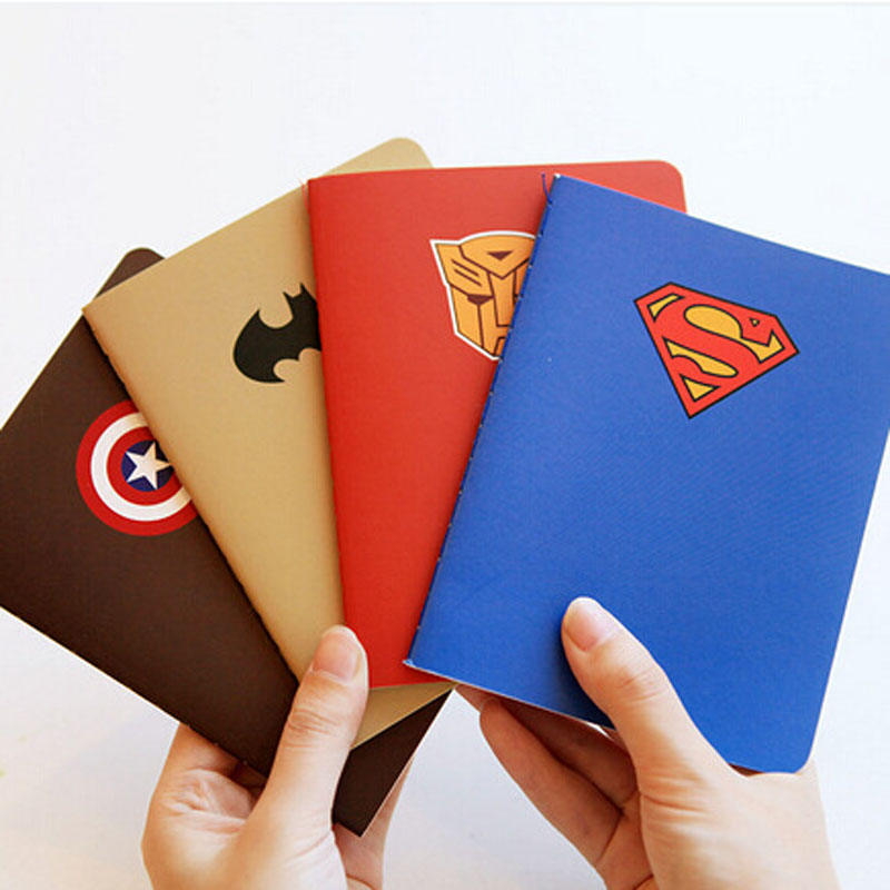 Agenda kawaii 2016 Cute Notebook The Avenger Personal Diary Sketchbook Filofax Superman Book Exercise Papelaria Day Planner