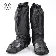 New 1pair Motorcycle Waterproof Bike Shoes Covers Reusable Anti-Slip Rain Snow Zipped Overshoes Gear Men Women