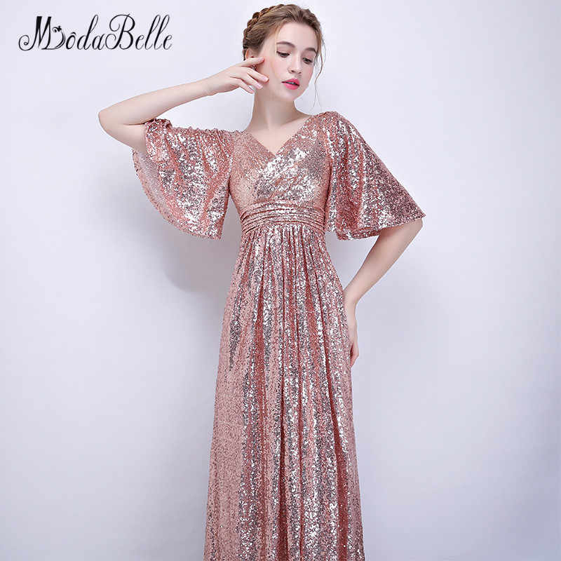 Detail Feedback Questions About Modabelle Rose Gold Bridesmaid Dress