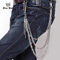 200g Heavy 3 Layers Chains Men's Wallet Chain Women's Big Clasp Silver Metal Punk Trousers Key Chain Hip Hop Jeans Chain J03