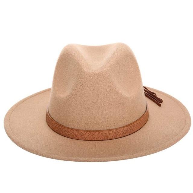 7880e9d5207a Nuevos sombreros de vaquero de talla grande para hombre de otoño e invierno  gorras de fedora 60 CM clásico sombrero peludo bufanda de lana de ...