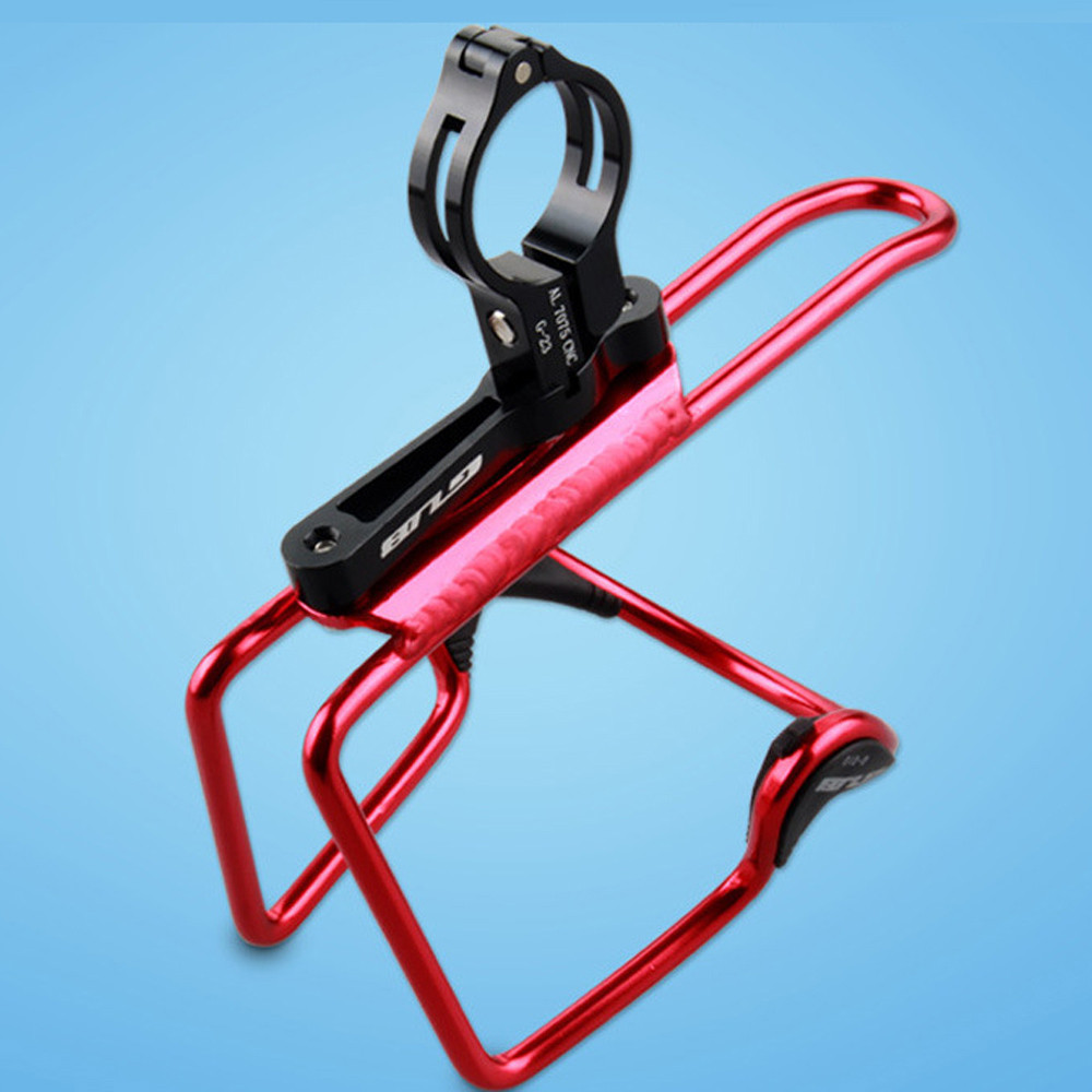 GUB Bicycle Water Bottle Clamp Cage Mount Holder Adapter for Bar Seatpost AL7075