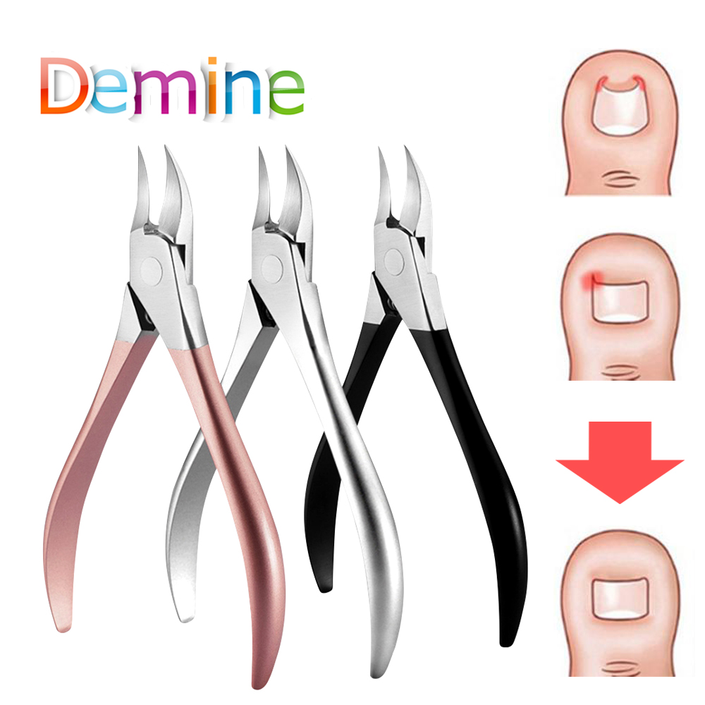 Demine Shoe Accessories Nail Care Small Cutting Pliers Toes  Tool Pads  Ingrown Nail Toenail Pliers  Nursing Toes Kit  Dead Skin