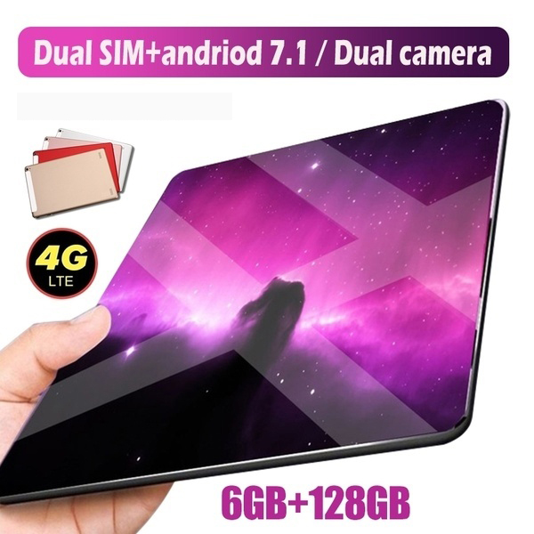 2019 Fashion Tablet 10 Inch Android Tablet  Android 7.1  Support 4G Dual Card Phone Call 1280*800 IPS  Android Tablet