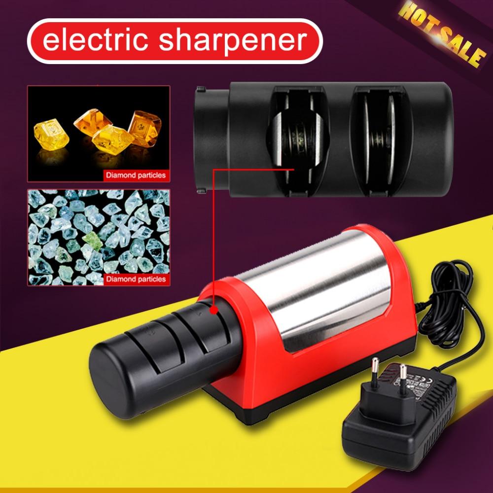 GRINDER Professional Electric Diamond Ceramic Kitchen Knife Sharpener 2 Stage Grinder Sharpening EU Plug Sharper In Sharpeners From Home