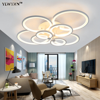 2017 Sale Lustre Remote Control Living Room Bedroom Modern Ceiling Lights Led Luminarias Para Sala Dimming