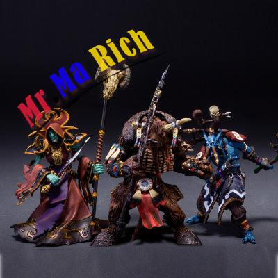 12 CM World of 3PC Trumpeter shaman witch doctor necromancer Action Collectible Statue Toy Figure