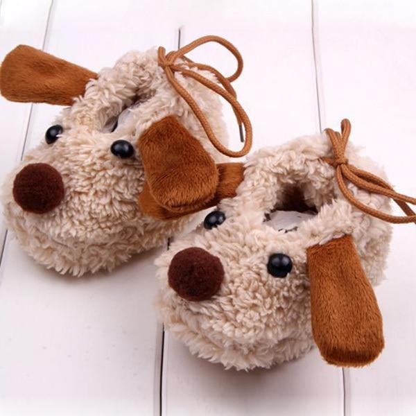 Baby Newborn Infant Girls Coral Fleece Shoes Cartoon Crib Shoes Socks Prewalkers