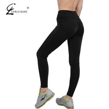 CHRLEISURE Sexy Push Up Black Leggings Women Fashion High Waist Workout Polyester Leggings Jeggings Slim Legging 6