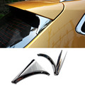 ACCESSORIES FIT FOR NISSAN QASHQAI 2014 2015 2016 SIDE REAR WINDOW SPOILER CHROME COVER TRIM TRIANGLE GARNISH BEZEL