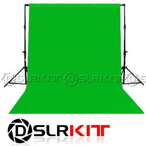 DSLRKIT Photo lighting studio Chromakey green screen Muslin background backdrop 1.8X2.8M