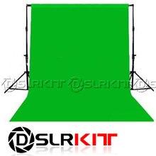 DSLRKIT Фотография освещения студии Chromakey зеленый экран Муслин фон фон 1.8X2.8 М