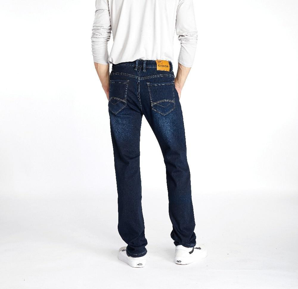 5e6b76ef1fba Drizzte Mens Winter Warm Jeans Black Flannel Lined Stretch Denim Jeans Men's  Clothing Jeans