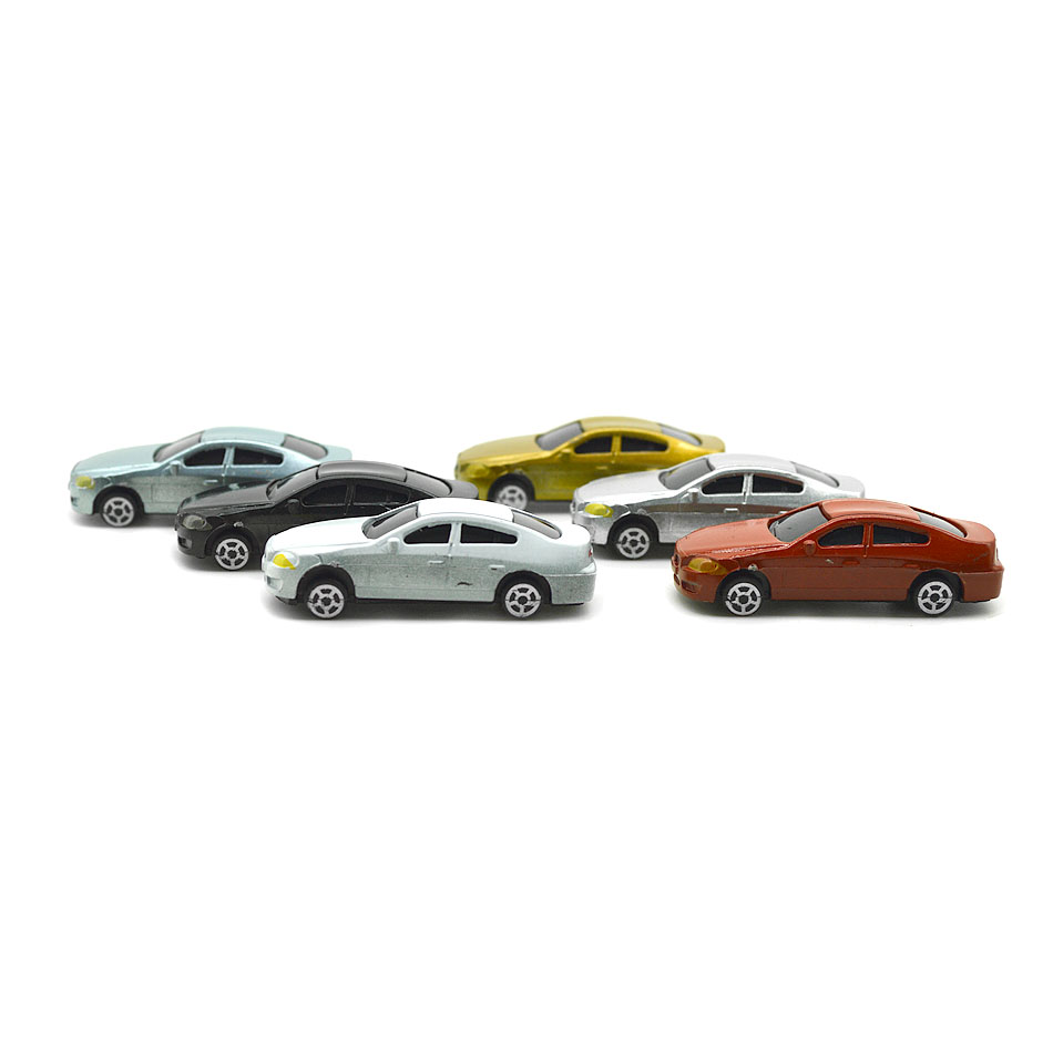 1 100 Scale Model Car toys Painted Model Cars for Miniture Model Building Layout in Model Building Kits from Toys Hobbies