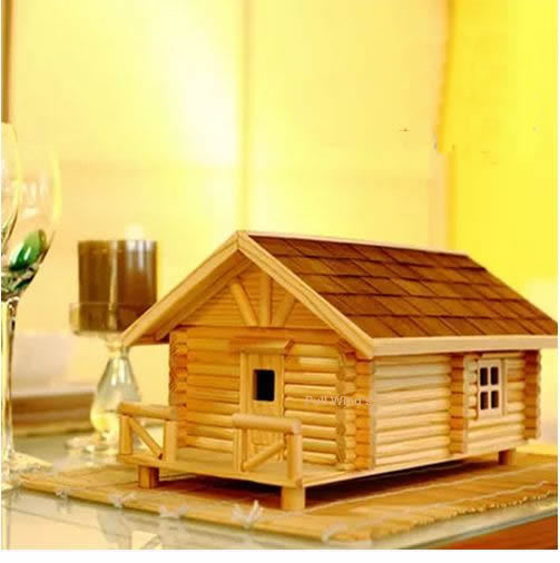 Creative diy assembly wooden Chalet Storage Box office Pastoral wood storage box Personalized desktop wood Home Decoration