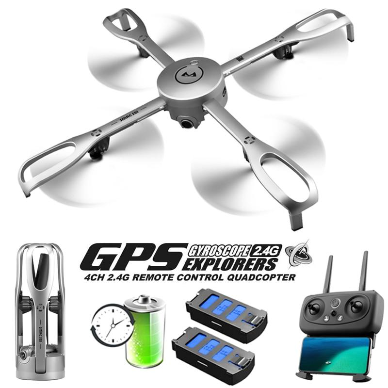 Drones Com Câmera HD Profissional 5G WiFi GPS Posicionamento Retorno Vôo Dobrável Rc Dron 1080 P FPV Fotografia Aérea zangão gps