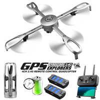 Drony z kamery HD profesjonalne 5G WiFi GPS pozycjonowania lot powrotny składany Rc Dron 1080 P Aerial Photography FPV drone gps