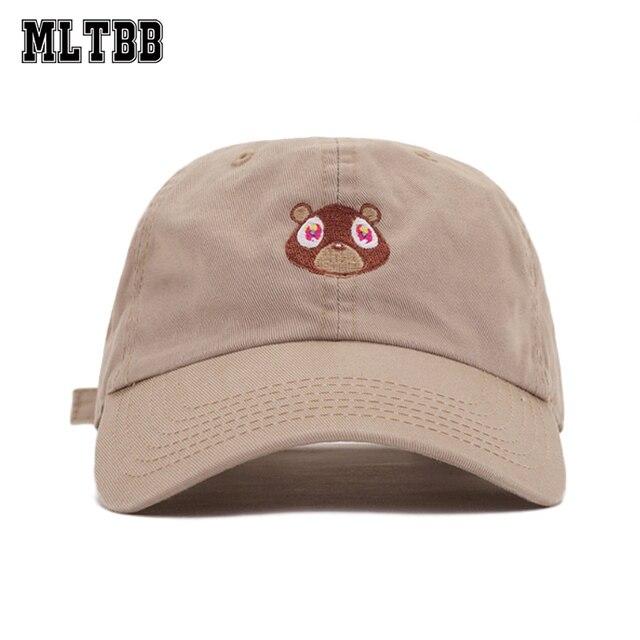 soft top baseball caps white plain new fashion cap canopy hat male female lovely bear