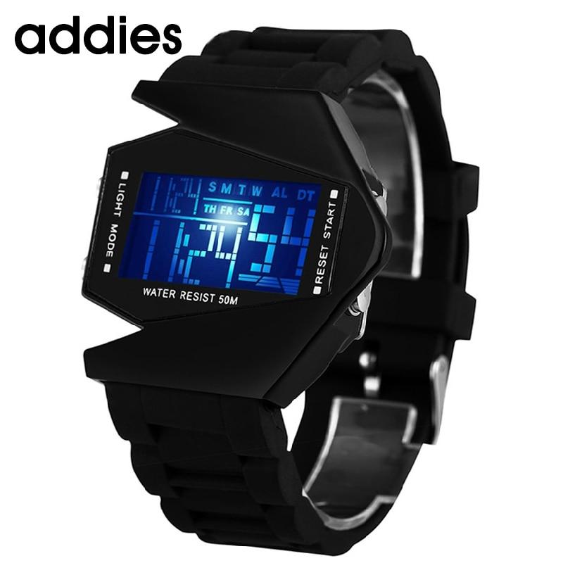 Hot Sale Fashion Women Mens Futuristic Stylish Multicolor Silicone LED Sport Wrist Watch