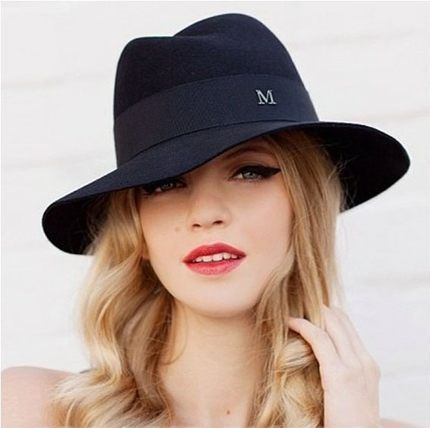 Woolen hat female spring and winter in Europe and America tide British style jazz hat Large brimmed hat