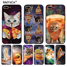 MaiYaCa Pizza cat in space Diy Colorful Printing Drawing TPU phone case