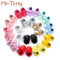 Лук Детская Обувь Весна Лето Slip on Кисточкой Мягкие Кожаные Первые Ходоки Prewalker Обувь 0 18 Месяцев малыша Детская Кровать В Обуви