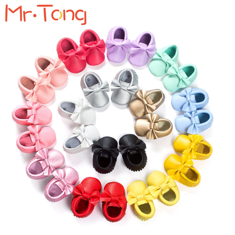 Bow Baby Shoes Spring Summer Slip-on Tassel Soft Leather First Walkers Prewalker Footwear 0-18 Months Infant Toddler Crib Shoes weixinbuy baby girls shoes infant prewalker toddler girls kid bowknot soft anti slip crib cotton first walkers shoes 0 18 months