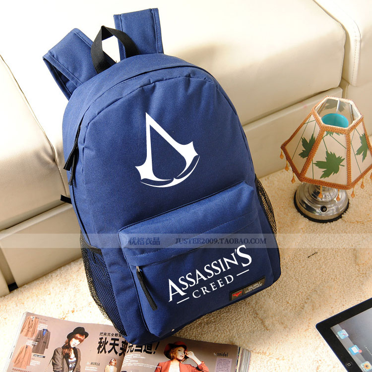 ФОТО 7 Color High Quality New Fashion Assassins Creed Backpack Boy Girl School Bags For Teenagers Game Oxford Backpacks