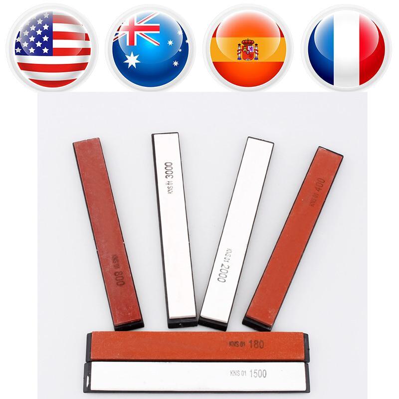 Genteel 6pcs/lot Sharpening Stones Professional Sharpening System Kitchen Knife Sharpener Tool Corundum Whetstone High Performance Tools