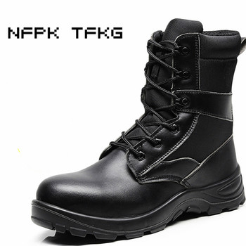 mens casual large size breathable steel toe caps work safety shoes anti-pierce platform tooling security boots autumn winter man