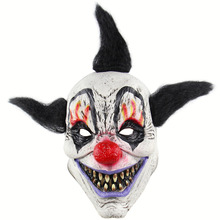 Funny Evil Adult Latex Hair Pennywise Killer Joker Clown Costume Mask Ghost Carnival Party Cosplay Decorations Accessories