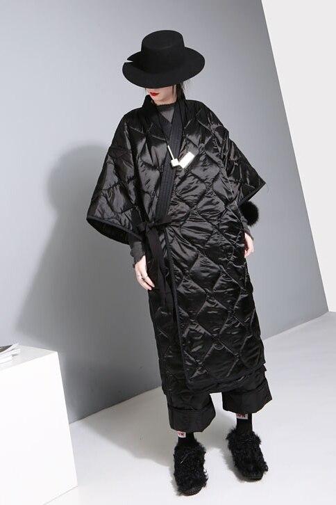 En Chaud Noir Femme Parka Manteau Lâche Femmes Coton D'hiver Robe Et 2017 Pardessus Oversize Longue Vestes Modifié Large e2 Bq8SBZpw