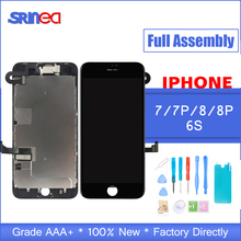 AAA Complete LCD For iphone 7 8 Plus 6S 6 S LCD Display Full Assembly With Touch Screen With Front Camera Without Home Button skylarpu 2 6 inch lcd display screen df1624x fpc 1 re v for garmin edge 810 without backlight without touch free shipping