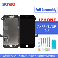 AAA Complete LCD For iphone 7 8 Plus 6S 6 S LCD Display Full Assembly With Touch Screen With Front Camera Without Home Button
