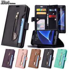 S7 Case For Hoesje Samsung S7 Edge Case Wallet Luxury Phone Cover Coque Samsung Galaxy S7 Case Leather 9 Card Flip Cover Bags S7