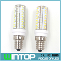 E14/E12/B15/G4/G9 LED Bulb Dimmable Lamp 220V 72Pcs SMD3014 Silicone Body Led Corn Light Chandelier Lights Replace Halogen Lamp