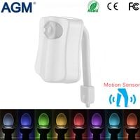 New LED Night Light For Home Use Light Control Human Motion Sensor Waterproof Bathroom Washroom Toilet