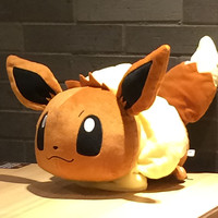 new 48cm Eevee Plush Toy Anime Brinquedos Eevee Cute Stuffed Doll for Children Soft pillow Plush pillow